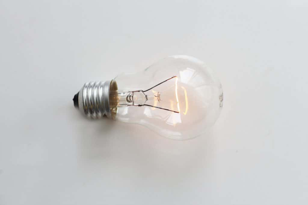 An image of a light bulb lighting up with an idea.