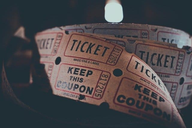 An image of a roll of tickets.