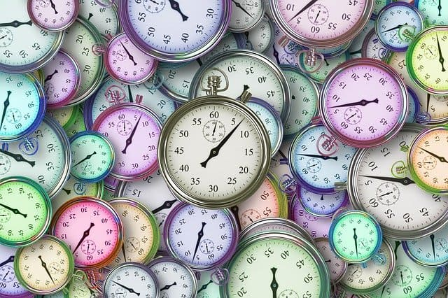 """An image of a bunch of stop watches.  Image by <a href=""""https://pixabay.com/users/geralt-9301/?utm_source=link-attribution&utm_medium=referral&utm_campaign=image&utm_content=3222267"""">Gerd Altmann</a> from <a href=""""https://pixabay.com/?utm_source=link-attribution&utm_medium=referral&utm_campaign=image&utm_content=3222267"""">Pixabay</a>"""