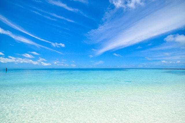 An image of the ocean.  Photo by Asad Photo Maldives from Pexels